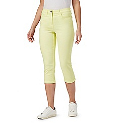 The Collection - Yellow cropped jeggings