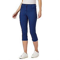 The Collection - Bright blue cropped jeggings