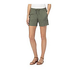 The Collection - Khaki linen cargo shorts