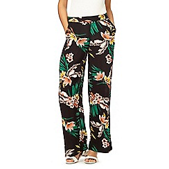 The Collection - Multi-coloured floral print trousers