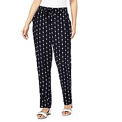 The Collection - Navy printed trousers