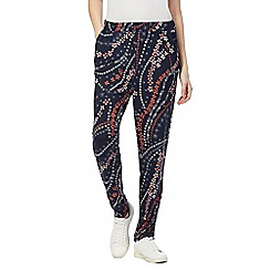 The Collection - Navy floral print harem trousers