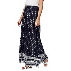 The Collection - Navy printed skirt
