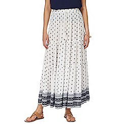 The Collection - Ivory printed skirt