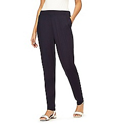 The Collection - Navy plain jersey harem trousers