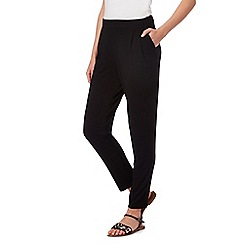 The Collection - Black plain jersey harem trousers