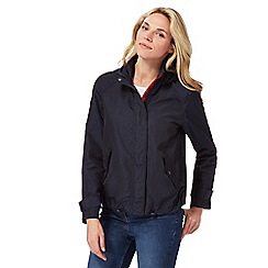 The Collection - Navy shower resistant coat