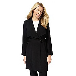 The Collection - Black belted duster coat