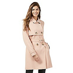 The Collection Petite - Pale pink crepe trench petite coat