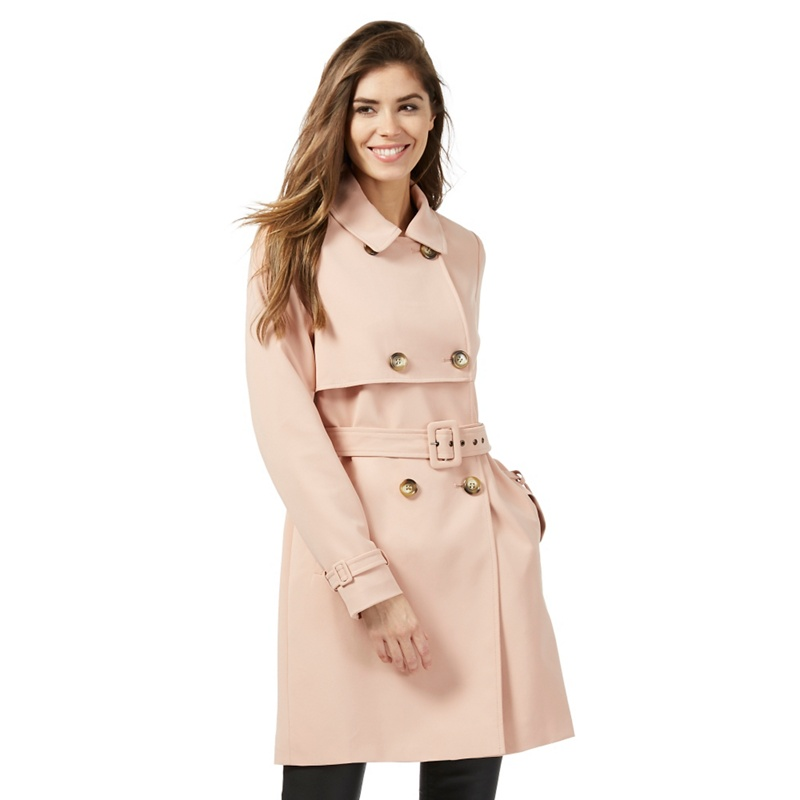 The Collection Petite Pale Pink Crepe Trench Petite Coat,