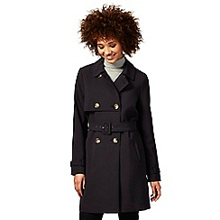 The Collection - Navy crepe trench coat