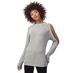 The Collection - Grey split sleeve jumper