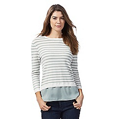 The Collection - Light green striped 2 in 1 jumper
