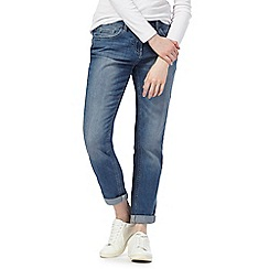 The Collection - Mid blue girlfriend fit mid wash jeans