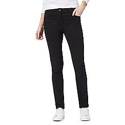 The Collection - Black mid-rise slim jeans
