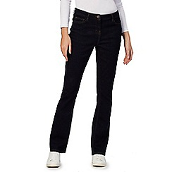 The Collection Petite - Blue regular fit bootcut petite denim jeans