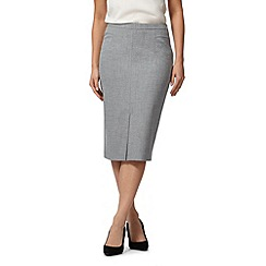 The Collection Petite - Pale grey suit skirt