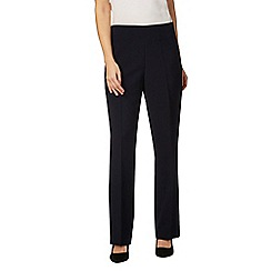 The Collection Petite - Navy straight fit petite trousers