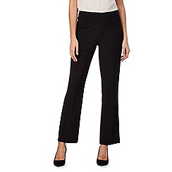 The Collection Petite - Black straight fit petite trousers