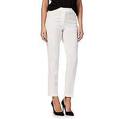 The Collection Petite - White slim leg petite trousers