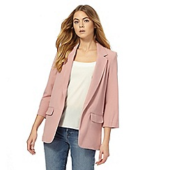 The Collection - Dark pink boyfriend jacket