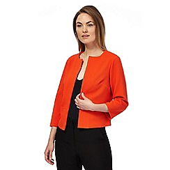 The Collection - Orange squared textured open jacket