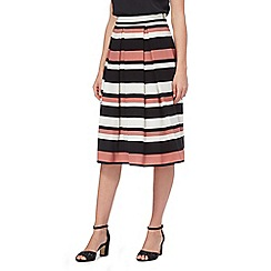 The Collection - Multi-coloured striped print prom skirt