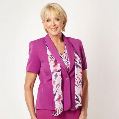 Classics Plum short sleeved scarf jacket - . -