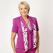Plum short sleeved scarf jacket