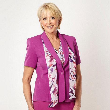 Classics - Plum short sleeved scarf jacket