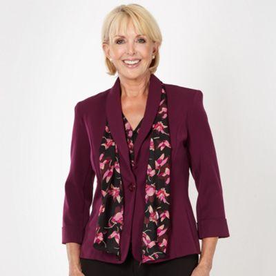 Classics Dark purple scarf jacket - . -