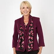 Dark purple scarf jacket