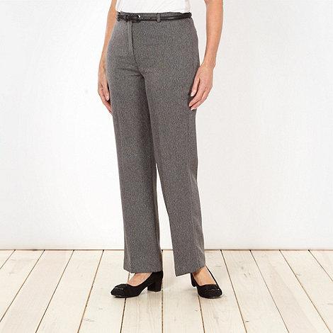 Classics - Grey herringbone belted trousers