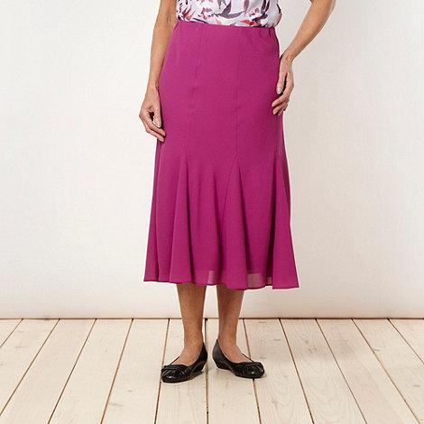 Classics - Dark pink panelled crepe skirt