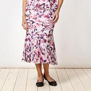 Lilac floral ruffled skirt
