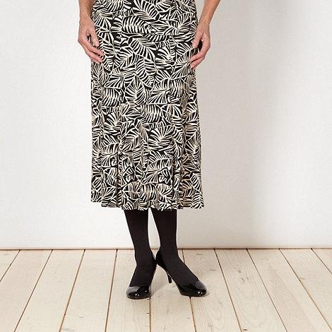 Classics - Black palm print skirt