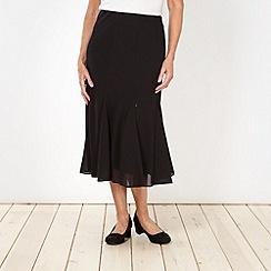 Classics - Black textured pleated skirt