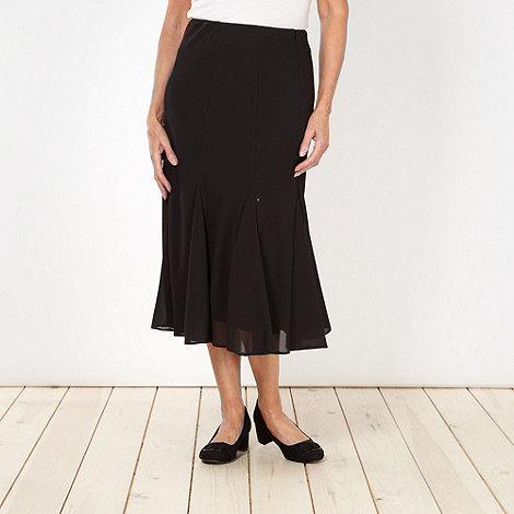 Classics - Black textured pleated skirt
