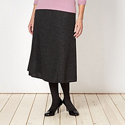 Classics - Dark grey tweed effect skirt