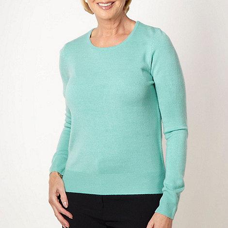 Classics - Light turquoise plain ultra soft jumper
