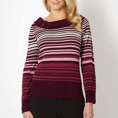 Classics Plum multi striped jumper - . -