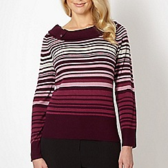 Classics - Plum multi striped jumper