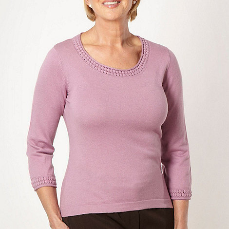 Classics - Pale pink ultra soft V neck jumper