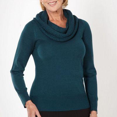Classics Turquoise crochet cowl jumper - . -