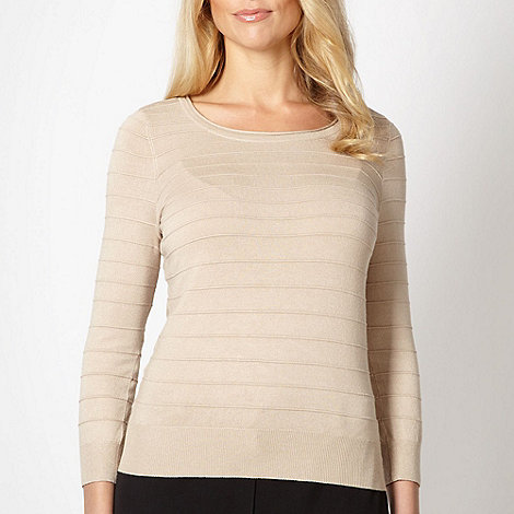 Classics - Natural ribbed jumper