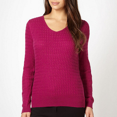 Classics - Dark pink cable knit jumper