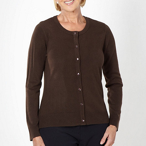 Classics - Chocolate button through ultra soft cardigan