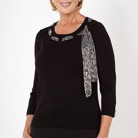 Classics - Black scarf trimmed jumper
