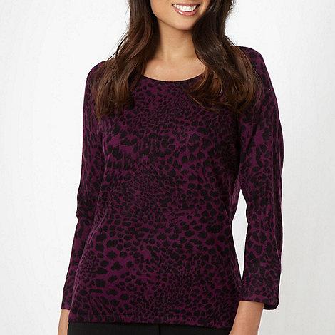 Classics - Dark purple animal jumper