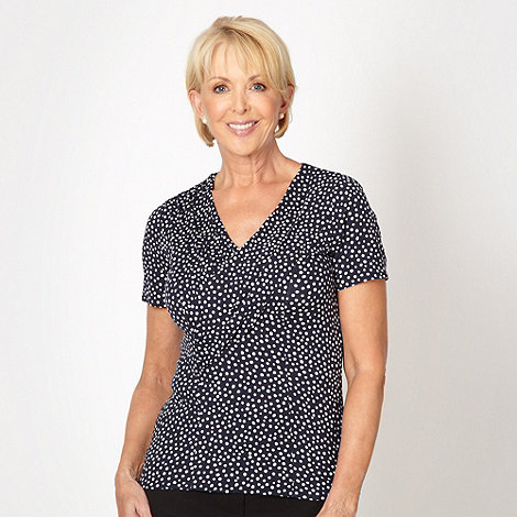 Classics - Navy spotted top